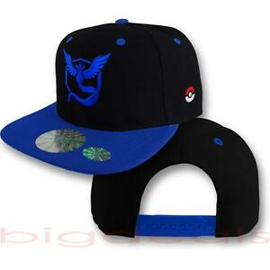 Pokemon Go Cap Logo Hat Snap Back Team Instinct Team Mystic Team Valor  Embroider a71dd6807562