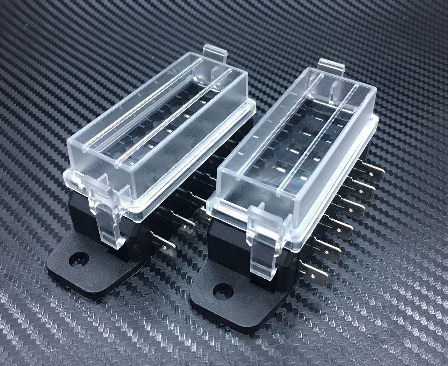 IZTOSS DC 32V 12 Way Terminals Circuit ATC ATO Car Auto Blade Fuse Blocks Box Holder with 10 pcs fuse,fuse puller and 10pcs connectors