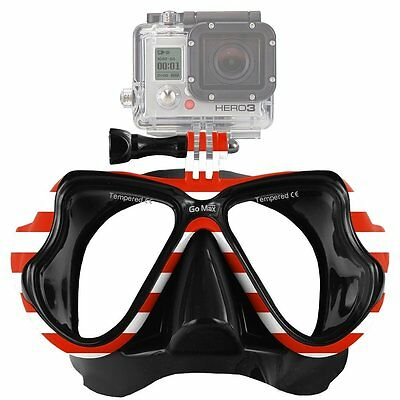 New GoPro ® Scuba Diving Mask compatible for All GoPro ® Hero by GoMax USA Flag