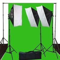Fancierstudio 2400 Watt Lighting Kit Green Screen Kit Chromakey Green 10'x12'