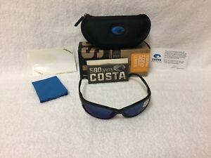 0954641cae NEW Costa Del Mar Fathom Polarized Sunglasses Black Blue Mirror 580P ...