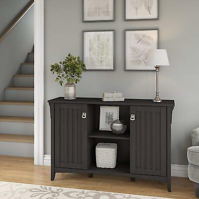 Console Buffet Sideboard Table Storage Cabinet Living Room Kitchen Antique Black Ebay