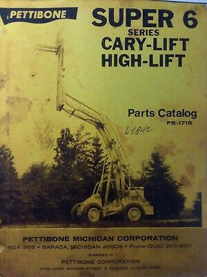 Pettibone Super 6 Cary-Lift High-Lift Parts Manual Catalog Construction  Forklift   eBayeBay