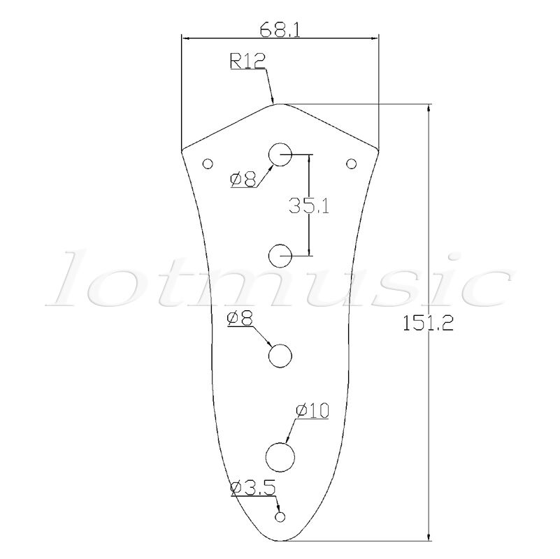 4 hole control plate for jazz bass guitar parts