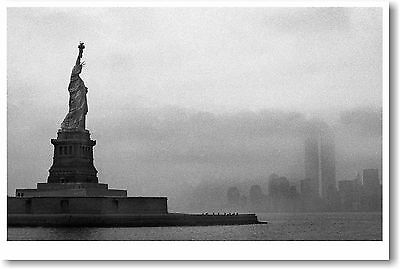 Statue of Liberty NYC - Twin Towers -  POSTER