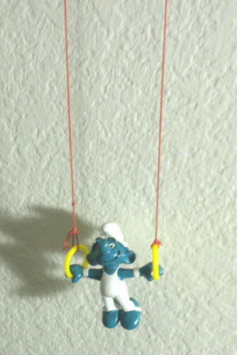 Smurfs 40510 Rings Gymnast Smurf Figure Olympic Vintage Toy PVC Super Figurine