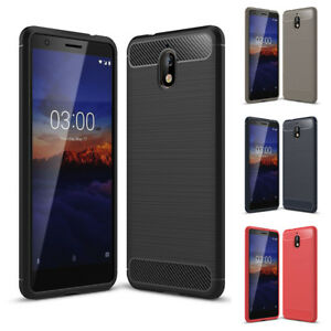 premium selection 3c7ee 89084 Details about For Nokia 3.1 Case, Ultra Slim Shockproof TPU Carbon Fiber  Protective Cover