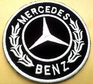 Mercedes benz logo patch iron on or sew on us seller free for Mercedes benz iron
