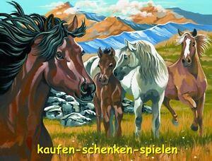 Details Zu Malen Nach Zahlen Wildpferde Pferde Auf Der Weide Tiermotiv Größe 30 Cm X 40 Cm