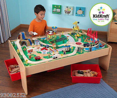 Kidkraft Play set  -- Waterfall Mountain Train set & Table - wood