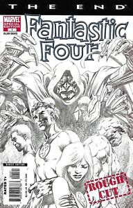 Fantastic-Four-Comic-Issue-1-The-End-Rough-Cut-Limited-Sketch-Variant-2007-Davis