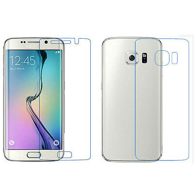 Front + Back Clear Film LCD Screen Protection For Samsung Galaxy S6 Edge Tide