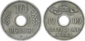 Deutsch-Ostafrika 10 Heller 1909 J ss+ 55263