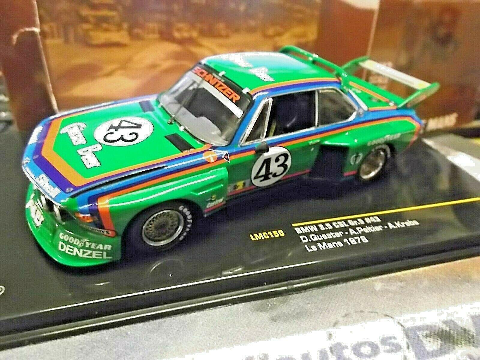 BMW 3.5 CSL MIS. 5 Le Uomo 1976  43 Gösser BEER Quester cancro Peltier Ixo 1 43