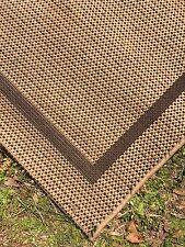 Wicker Look Area Rug Brown 66x87 Made in Belgium Polypropylene