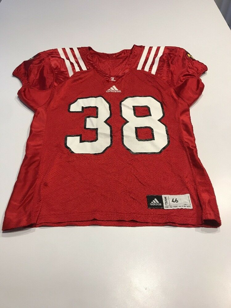 Game Worn Used Louisville Cardinals Size UL Football Jersey Adidas Size Cardinals 46 3f8a56