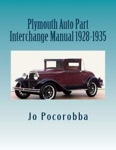 PLYMOUTH-Parts-Interchange-Manual-1928-1935-Find-amp-Identify-Original-Parts-NEW