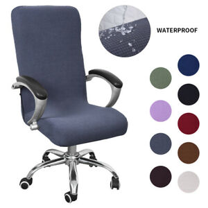 Office Computer Chair Seat Cover Stretchy Dining Chair Seat Slipcover Grey
