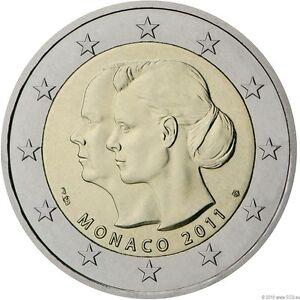 Monaco 2011 2 Euro Sondermünze Hochzeit Fürst Albert Ii U
