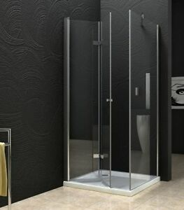 New-Semi-Frameless-Bifold-Door-shower-screen-No-base-1000X1000X1900-SOLD-OUT