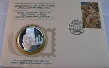 MODERN JAPANESE ART, JAPAN, Postmasters STERLING SILVER COIN, FIRST DAY COVER