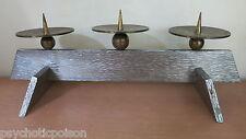3-flammiger massiver Kerzenständer aus Metall 4,9 kg Modernist Eames-Colani-Ära