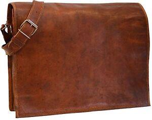 15-034-New-Genuine-Vintage-Leather-Messenger-Bag-Shoulder-Laptop-Bag-Full-Flap