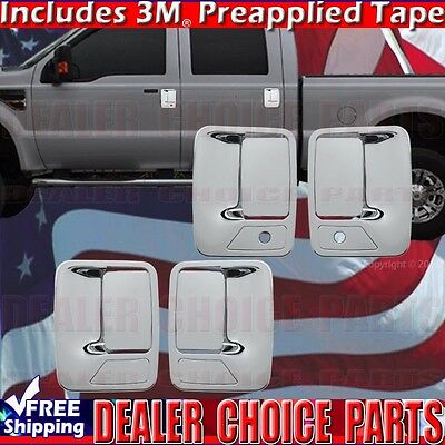 2004-2014 FORD F150 Chrome Door Handle COVERS Trims W//Out Keypad W//PSK 4DR
