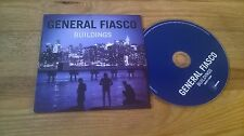 CD Indie General Fiasco - Buildings (10 Song) Promo INFECTIOUS MUSIC cb