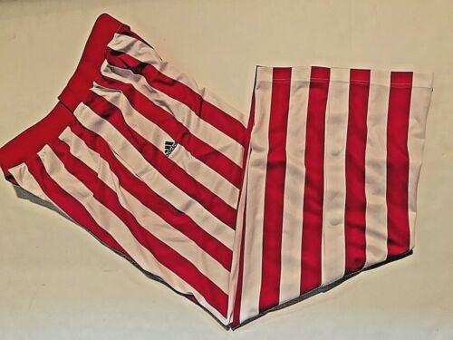 Indiana Hoosier NCAA Big Ten adidas Red White Striped Shooting Warmup Pants 2XL