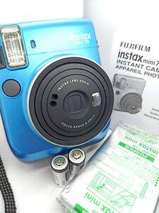 Fujifilm-Instax-Mini-70-Instant-Color-Film-Camera-Island-Blue-with-10-film-pack