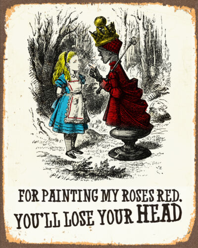 Alice In Wonderland queen off head A1 A2 A3 A4 A5 Vintage Art Print Poster