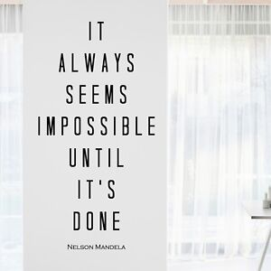 Inspirational office decor Inspiration Image Is Loading Nelsonmandelainspirationalmotivational walldecalquoteart Ebay Nelson Mandela Inspirational Motivational Wall Decal Quote Art Home