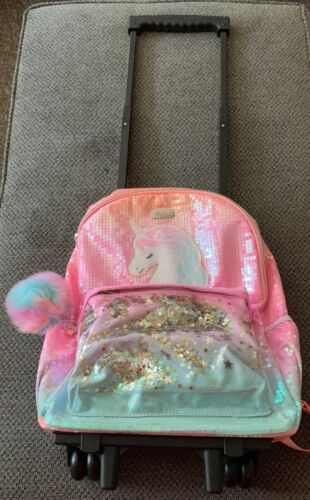Justice Girls Unicorn Ombre Shaky Rolling Backpack
