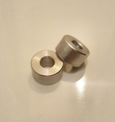 35mm insert bush PICK LENGTH 8mm M10 x 1.0 Aluminium 19mm O//D spacer
