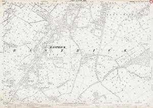 Rastrick old Yorkshire map 246-3-1893