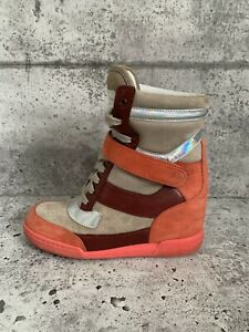 Marc-By-Marc-Jacobs-Women-Wedge-Leather-Sneakers-Size-8US