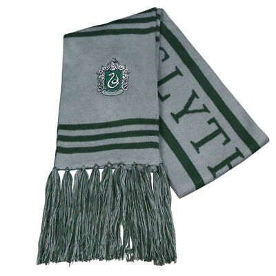 Harry Potter Slytherin Thicken Wool Knit Scarf Wrap Soft Warm Costume Cosplay