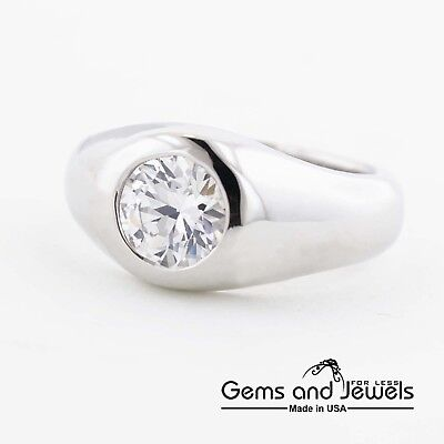 Men/'s GG 14k three Color Solid Gold Band Ring 3 tone with manmade diamonds