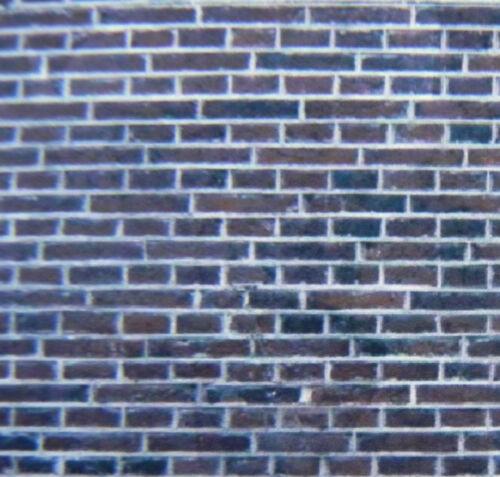 self adhesive vinyl 1:48 scale O gauge brick A4 dark engineers