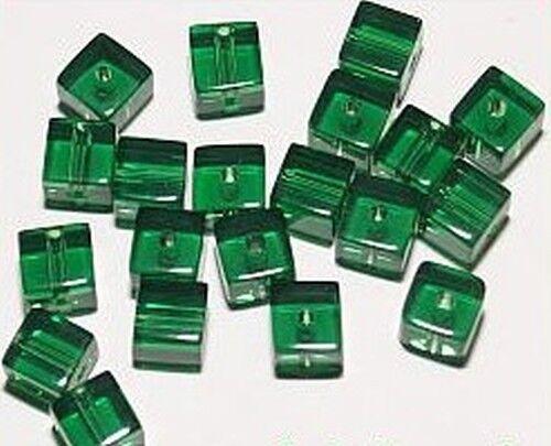 6mm #30 dunkelgrün 20 Glaswürfel ca
