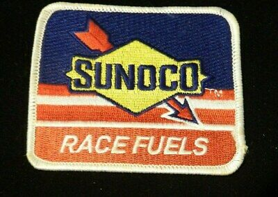 """SUNOCO RACE FUELS/"""" YELLOW /& RED /& BLUE   Embroidered 2-3//8 x 3-1//2 Iron On PATCH"""