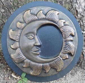 Sun face mold plaster concrete casting garden plaque mould