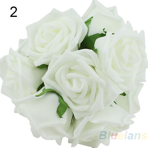 10PCS FANCY LOTS ROSE FLOWERS HEAD PARTY WEDDING BRIDAL BOUQUET SWEET DECORATION