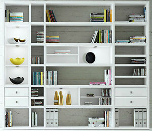 toro b cherregal b cherregale hochglanz wei nach ma. Black Bedroom Furniture Sets. Home Design Ideas