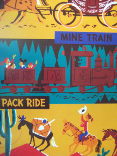 Collector/'s Poster Print B2G1F Stage Coach Vintage Disney 1955 Frontierland