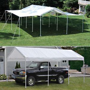 Details about 10x20x8 ShelterLogic 8 Leg Canopy With Extension Kit Carport  Party Tent 23530