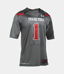 Details about Under Armour Texas Tech Red Raiders On Field HeatGear Football Jersey Gray Red 1
