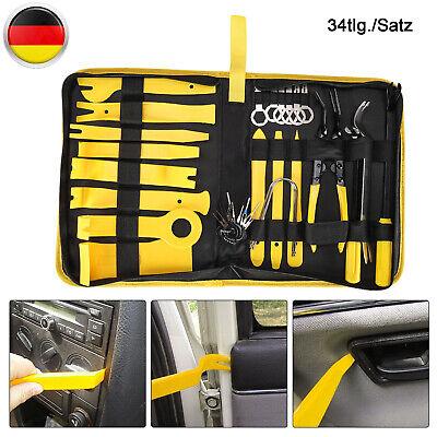 34tlg Auto KFZ Innenraum Türverkleidung Verkleidung Demontage Ausbau Werkzeug