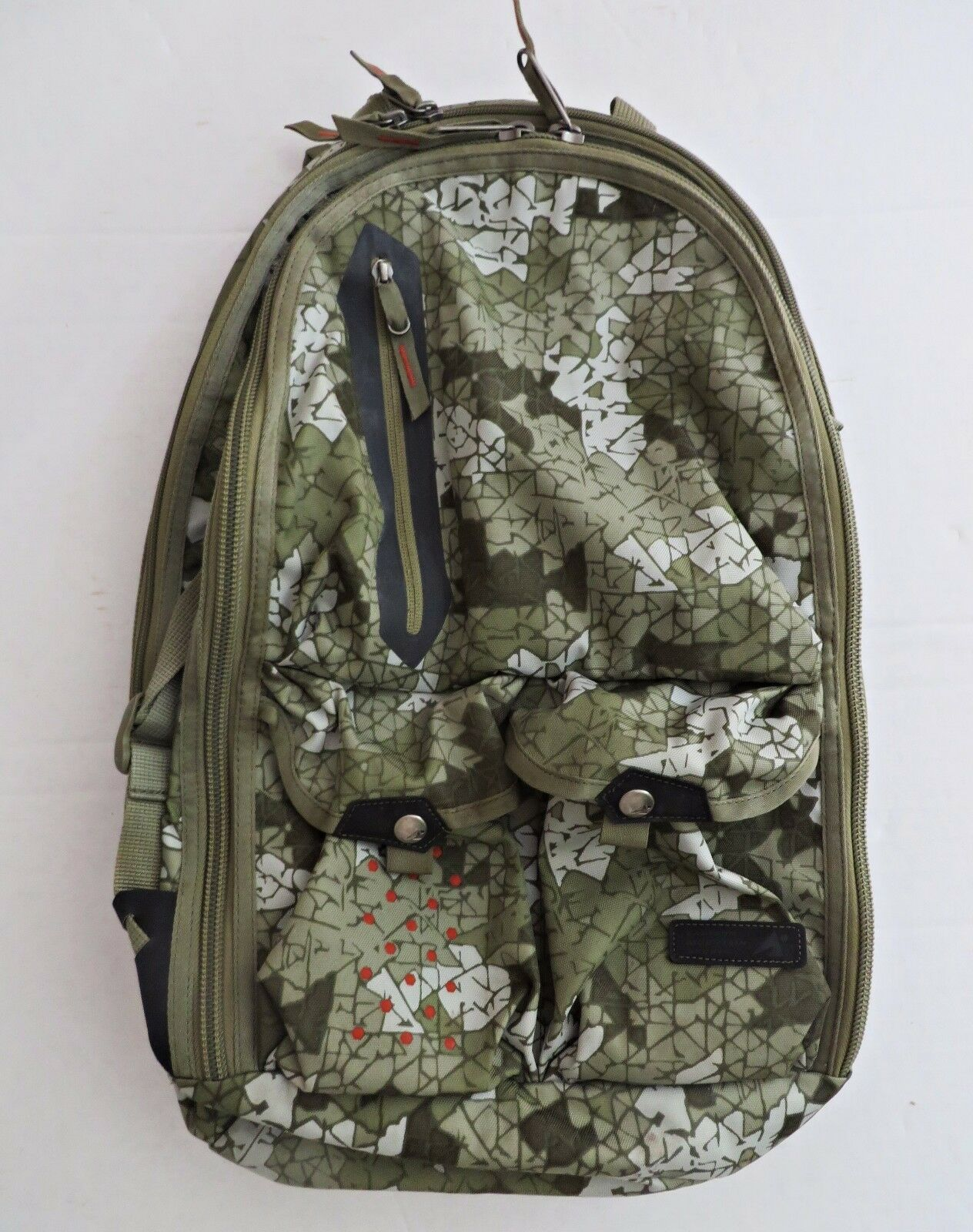 Vtg 80 EMS verde Camouflage Camo Daypack Day Pack Backpack Hire School borsa 32L